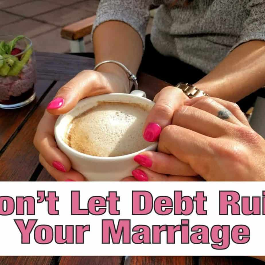 Debt takes a huge toll on a marriage and many times a marriage just can't take it. There are things you can do to get both of you on the same page and work together instead of against each other. marriage | debt | get out of debt | money | family finance | save my marriage #getoutofdebt # marriage #money