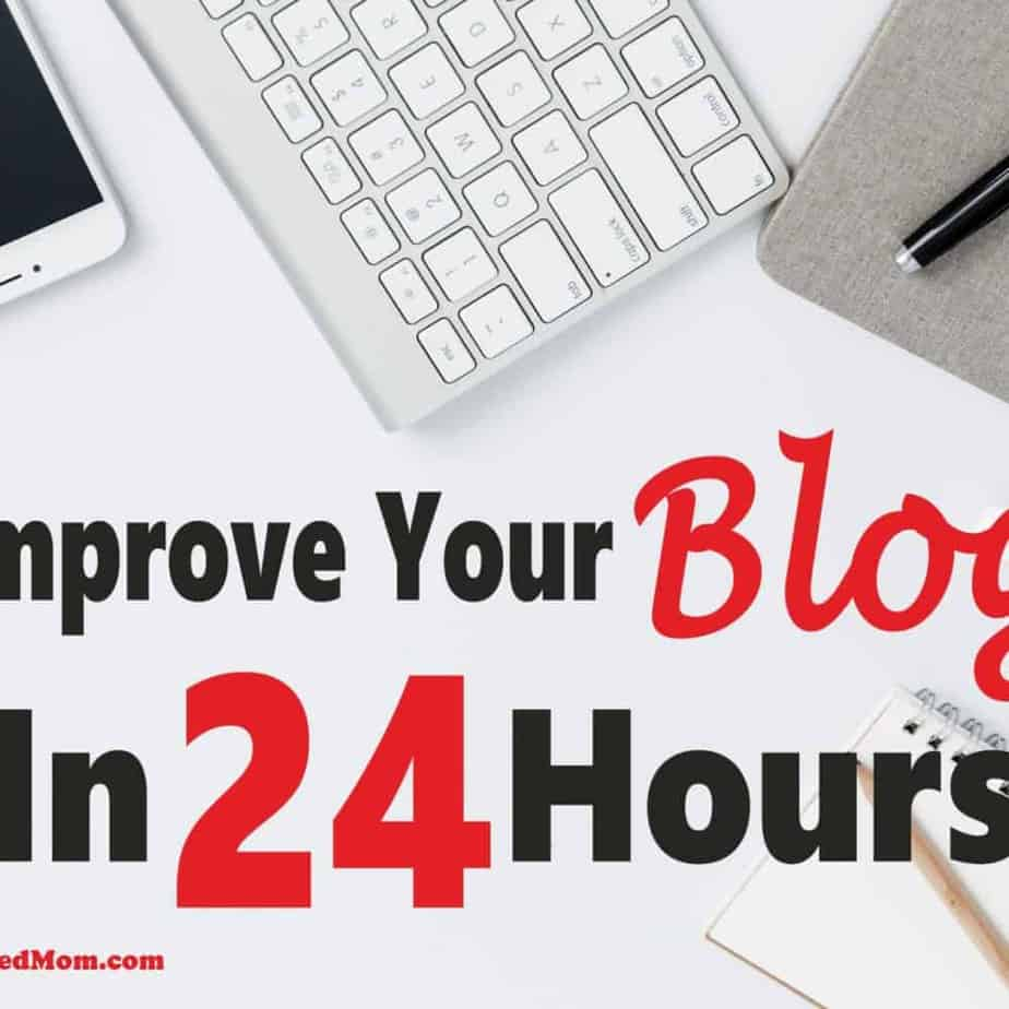 How to Improve Your Blog in 24 Hours ~ Blogging requires a lot of work. Sometimes those little tasks but important tasks fall through the cracks. Read on for some simple yet effective things you can do to improve your blog in 24 hours. blog | blogging for beginners | blogging | make money blogging #blog #bloggingforbeginners #makemoneyblogging