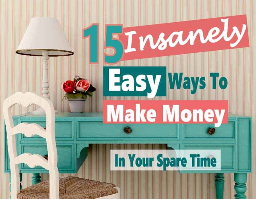 Earning extra income is something we may need to do to help make ends meet or get out of debt, or stay on budget. Even if you work full time, there are things you can do in your spare time to help pay the bills. Here are 15 insanely easy ways to earn extra income in your spare time. make money at home | make money | extra income | WAH #WAH #makemoney #extraincome