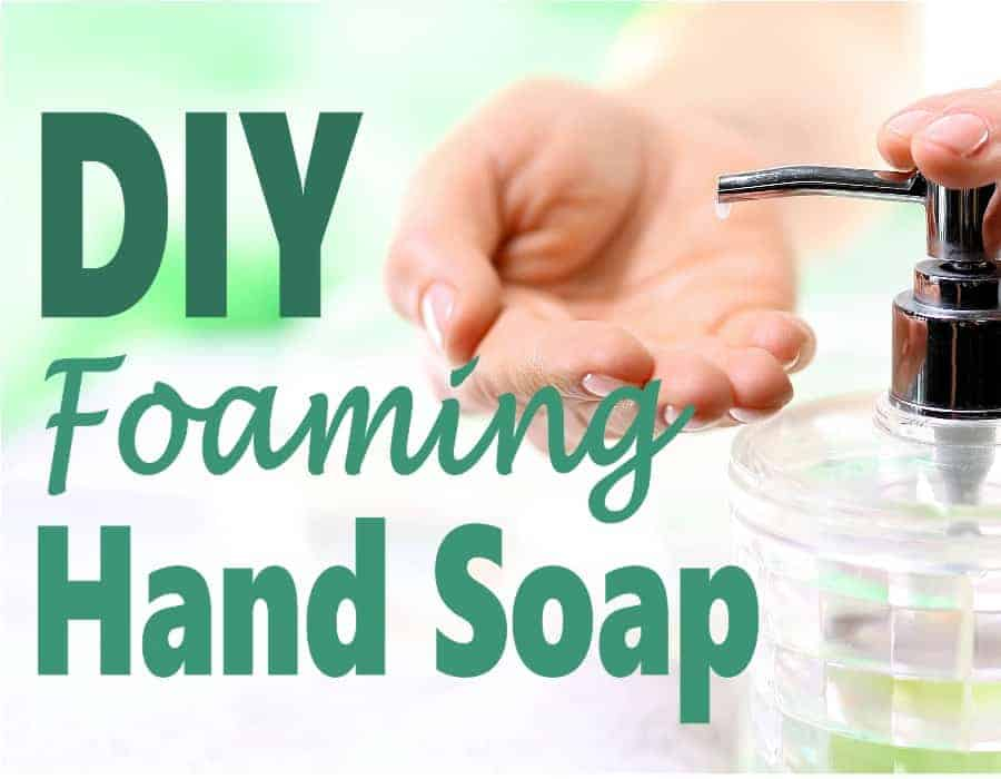 Saving money around the house is easy when you can DIY it for so much less than buying it in the store. Not only is it healthier but it's also natural making it better for you. Check out this recipe for foaming hand soap to help save money and cut household expenses. #DIY
