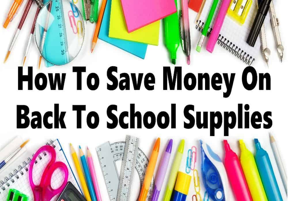 How to save money on back to school supplies ~ School supplies can be very expensive, it can take a big chunk out of your budget & even more so the more children you have going back to school. Read on for some great tips on how to save more money on back to school shopping. #schoolsupplies #backtoschool #schoolshopping