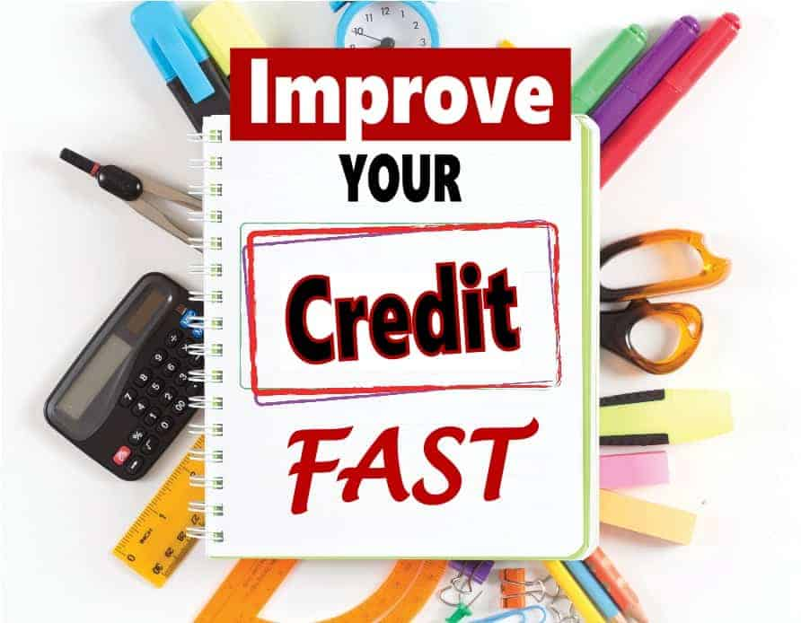 Does your credit score suck? Good new, it's not that hard to improve your credit score you just need to know what makes the most impact and start working on those factors of your FICO score first. Check out this post to help you improve your score fast. #creditscore #FICO