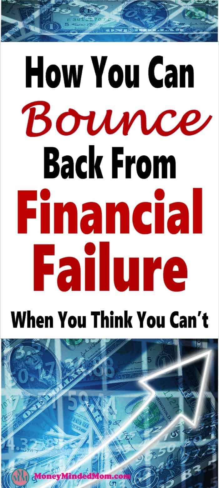 How to Bounce Back From Financial Failure ~ Financial failure happens to us all. The key to overcoming financial failure is to learn from our mistakes and keep moving forward because you can overcome this. Here's how. finance | financial failure | money | financial disaster #money #finance #finacialdisaster
