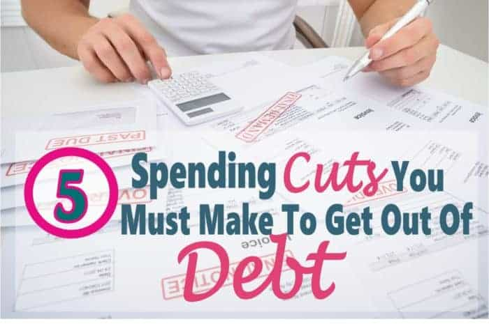Debt Payoff ~ Spending Cuts You Must Make When Getting Out Of Debt ~ Getting out of debt is hard, if you want to have a better financial future the you are going to need to make sacrifices. There are some spending cuts that will need to be made to save money and control your budget. Read on for some great tips on how to control you spending to get out of debt. Debt | Get out of Debt | Debt Free | How to Get Out of Debt | Money #money #debt #finance #debtfree