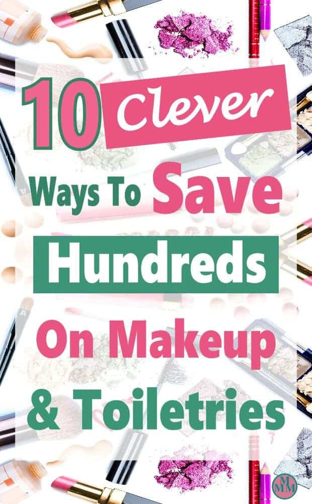 Makeup and toiletries can take a big bite out of your budget. You go to the drugstore to pick up a few items & end up spending way more than you expected. Good news is there are some clever tricks you can use to save on makeup and toiletries.  #savemoney #money #budget
