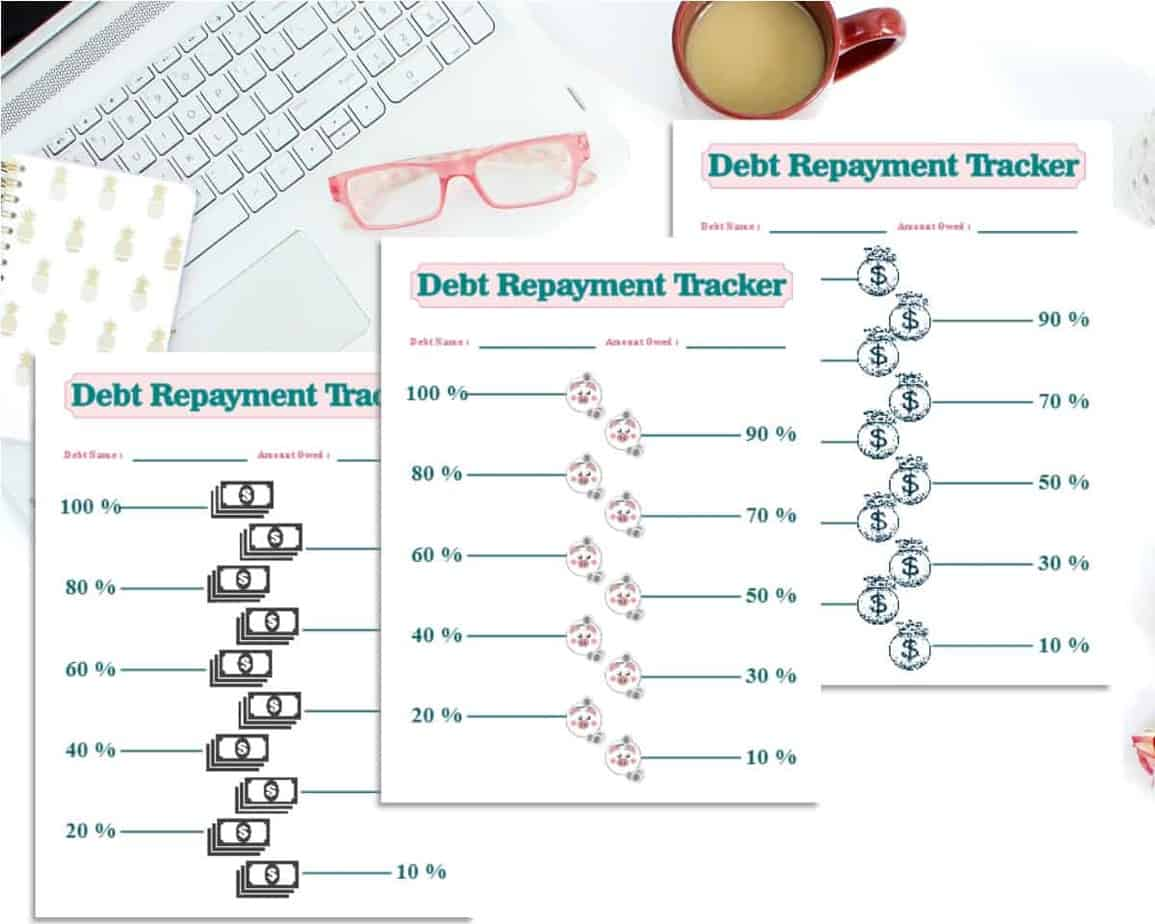 Debt Thermometer Printable Tracking Sheet