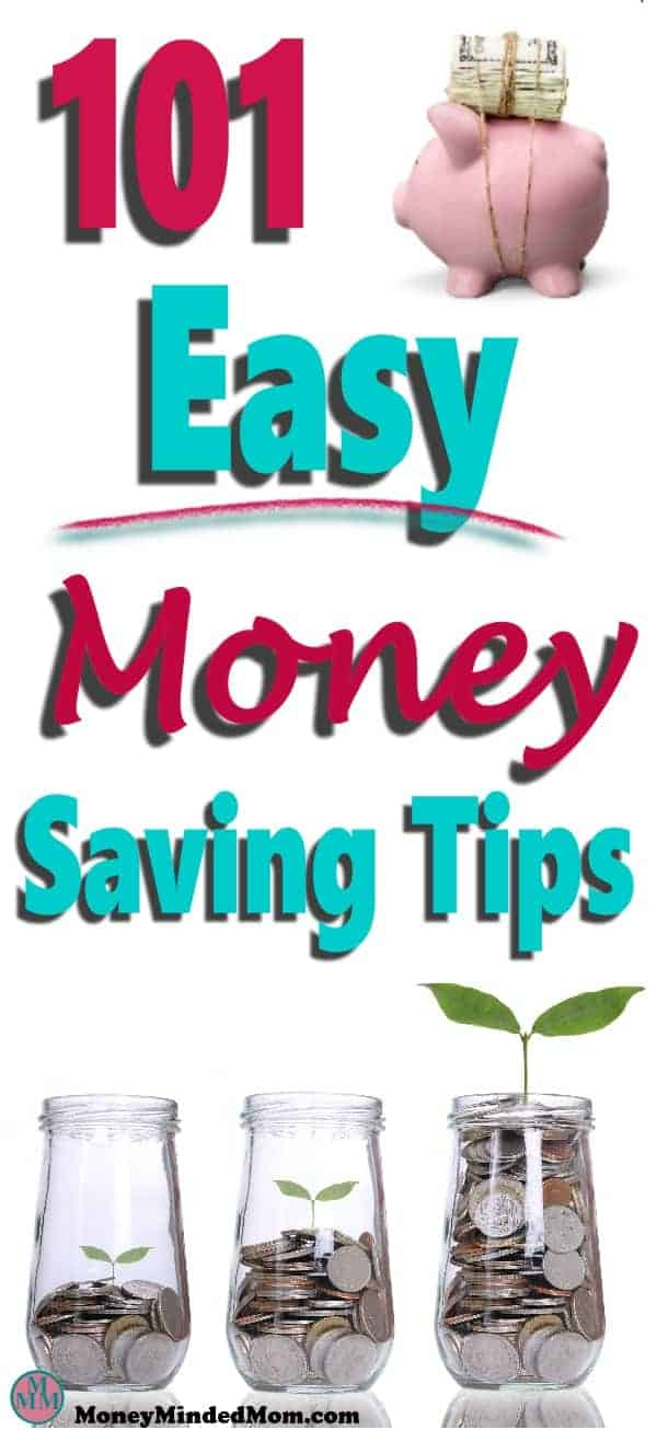 Saving money doesn't have to be so hard. There are plenty of small things you can do to save money to balance your budget, get out of debt and achieve financial freedom.. Read 101 Easy Money Savings Tips to find out how. #money #savemoney #finance #moneytips