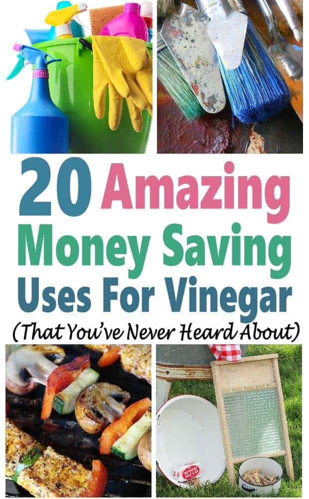 Vinegar is such a versatile product that can be use all around the house. What's even better is that it is super cheap which makes saving money around your home super easy. Check out these 20 amazing money saving uses for vinegar. cleaning hacks | save money | cleaning tips | household saving #cleaninghacks #savemoney #householdsavings