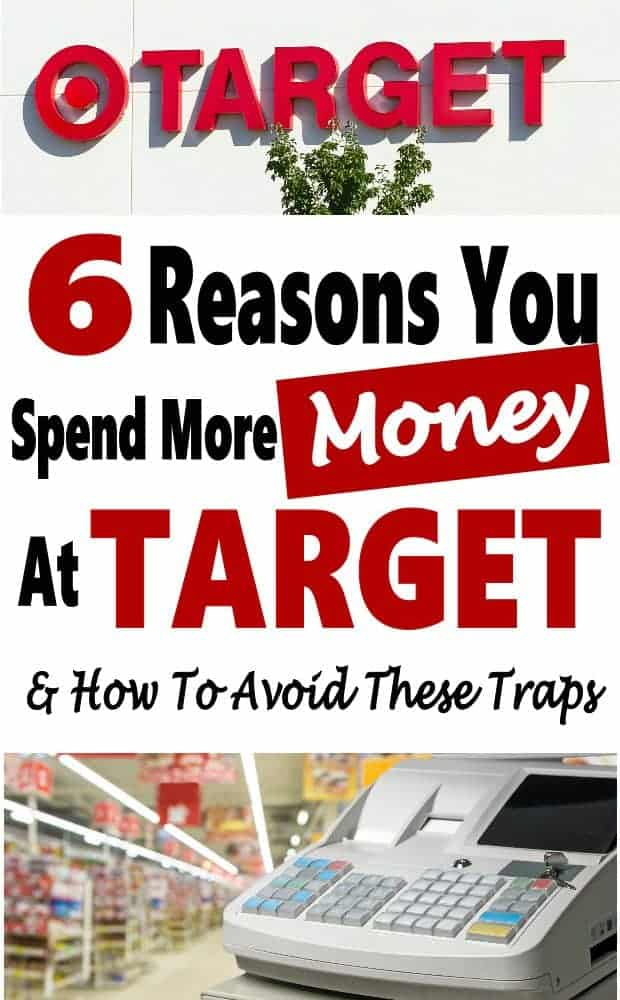 Have you ever went to Target for a few items and walked out with a cart full of things you didn't intend to buy? I think everyone has been there. Target and other store use sneaky little tricks to make you spend more money. Click over to find out what they are and how to avoid them to save money #savemoney