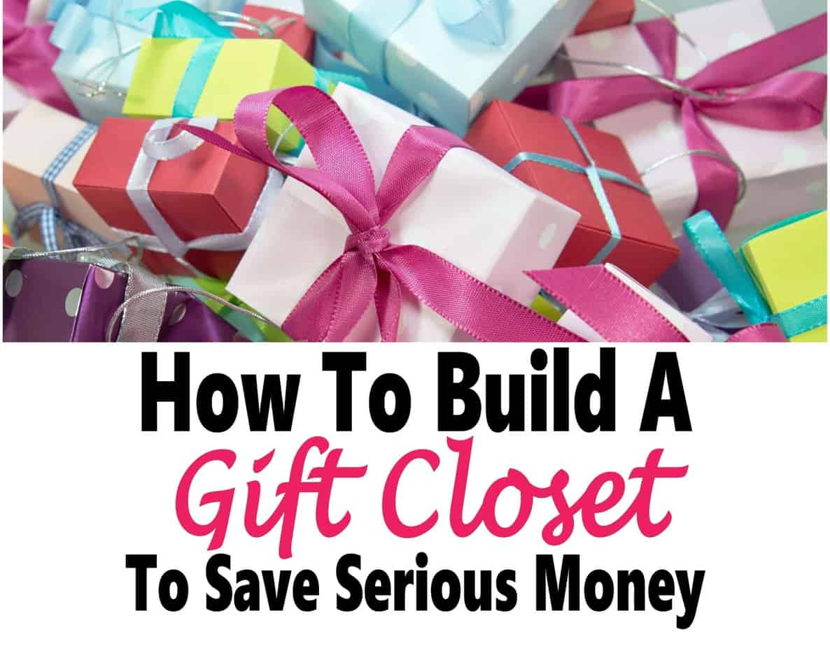How to Build a Gift Closet To Save Serious Money ~ Building a gift closet is a great way to save money on gift giving as well as being able to afford doing so when money is tight. Read on to learn how to build your own gift closet to save some serious money. gift giving | gifts | money | saving money #money #savemoney #gifts #finance