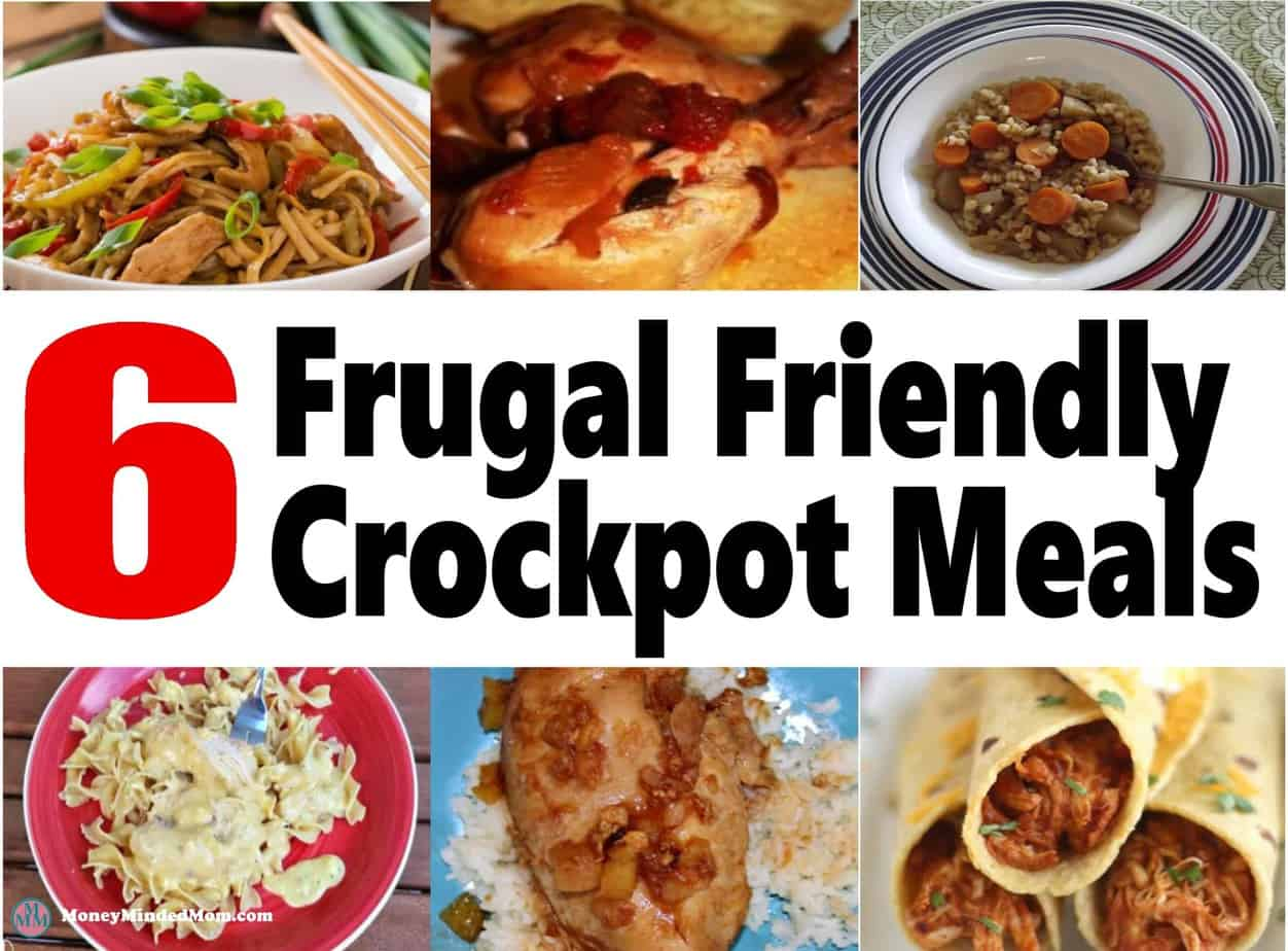 6 Frugal and Easy Crock Pot Meals ~ Crock pot meals are a great time and money saver in the kitchen. Check out these 6 delicious crockpot recipes that your family is sure to love!! crockpot | slowcooker | meal planning | cheap meals | frugal recipes | recipes #crockpot #mealplanning #cheapmeals #recipes