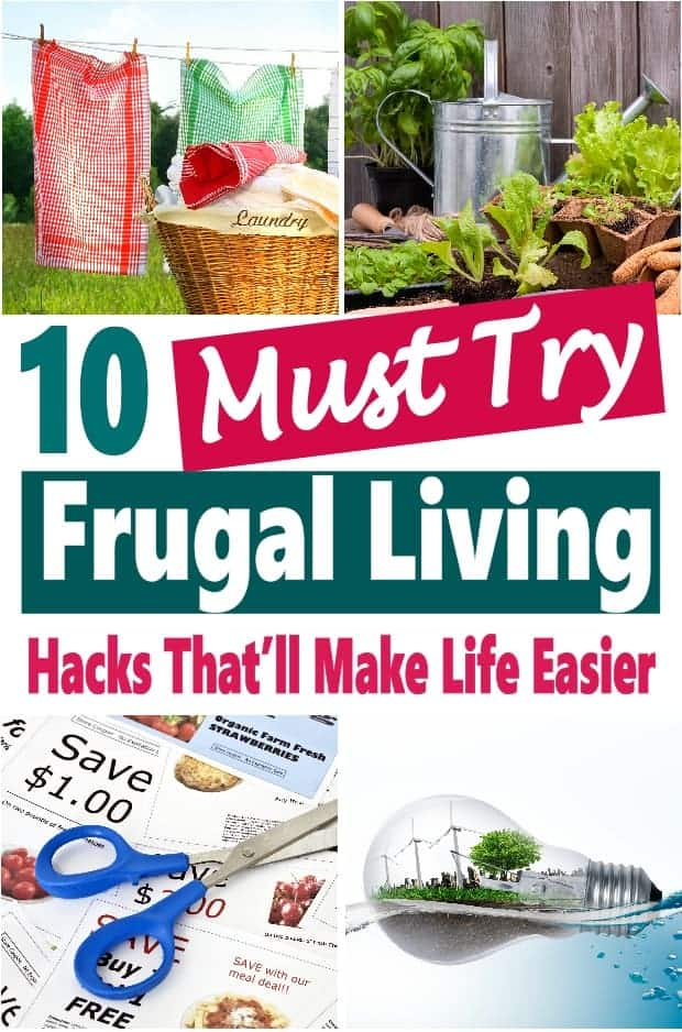 Frugal Living is a way of life everyone should adapt to. It is about making smart decisions about how you spend your money. I've put together 10 posts on easy frugal living tips that will help you save a bunch more money. #savingmoney #frugalliving #frugal