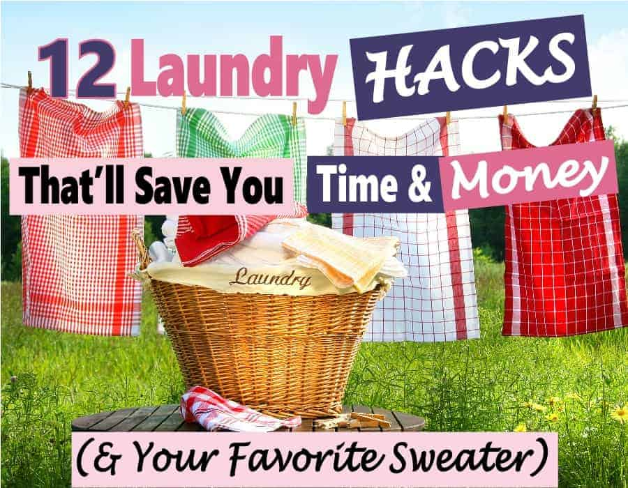 Laundry is a chore nobody likes to do, but it must be done. Luckily there are some things that you can do to save time and, money to make life a bit easier. I've put together a list of 12 laundry hacks that will help you do just that. cleaning hacks | laundry hacks | money saving tips | save money | time management #cleaninghacks #laundryhacks #timemanagement