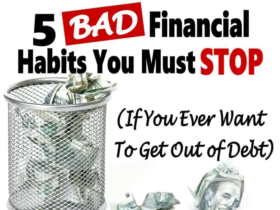 Replacing bad financial habits with good one is not as difficult as it may seem. It a must if you want to save money and live a financially independent life. It'll allow you to start saving money, budgeting, and get out of debt. #finance #money #personal finance #money