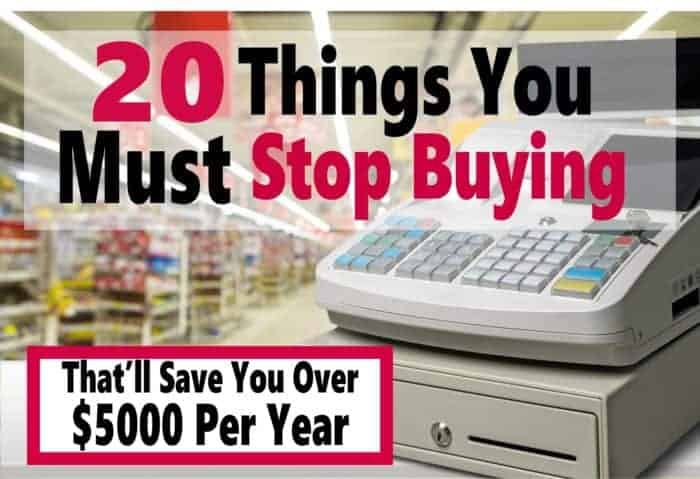 20 Things You Must Stop Buying Today ~ There are many things that we spend money on week after week that are a total waste of money. Read on to learn what 20 of these are and how you could save over $5000 a year. saving money | money | finance | budget | money saving tips #money #finance #budget #savemoney