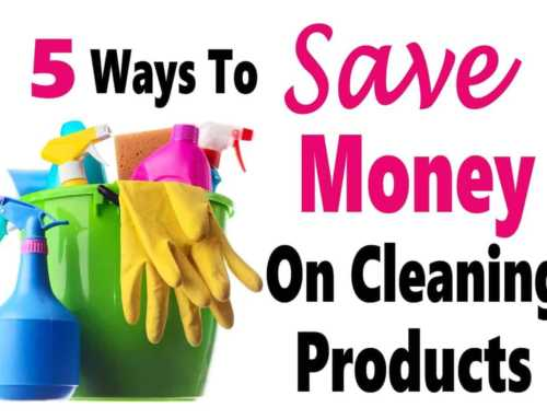 5 Ways To Save Money On Cleaning Products