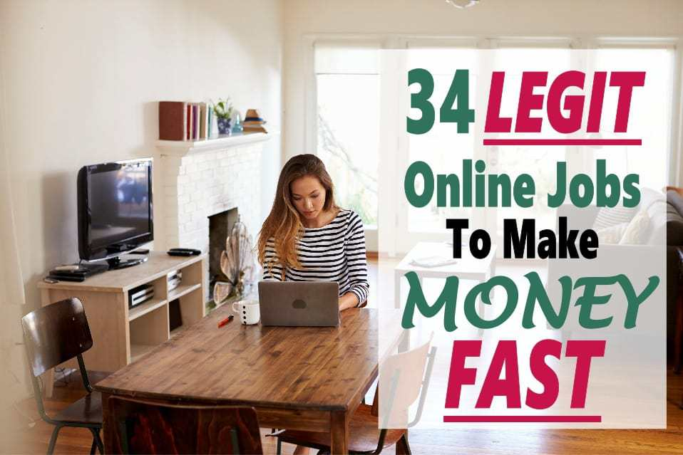 There are many great ways to make money online. The problem is figuring out if they are legit or a scam. No worries read on for 34 great legitimate ways to make money from home fast. work from home | make money at home | make money online | work at home | make money online | make money fast #makemoneyonline #workathome #makemoneyfast #workfromhome
