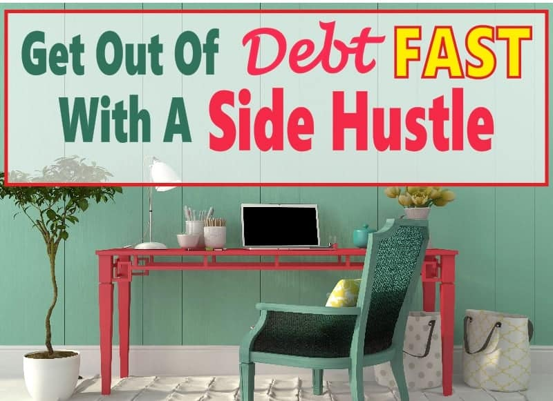 Taking on a side hustle is a great way to get out of debt fast. It allows you to make more money so you can put the extra income on debt to pay it off faster. Here are some great ways to make money from home to become debt free faster. debt | debt free | get out of debt | make money | extra income | work at home #finance # money #debt # getoutofdebt