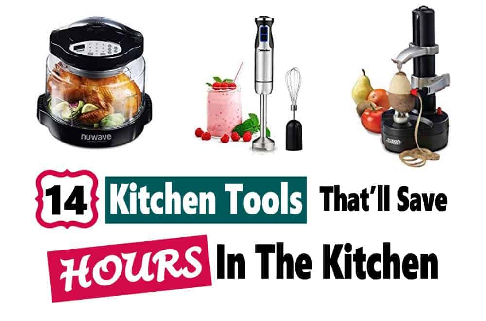 Saving time in the kitchen allows us to spend time with our families and do other things we love to do. Who doesn't want that! Check out these 14 kitchen tools that will give you back some time!! #kitchentools #timesavingkitchengadgets #savetimecooking #kitchenappliancesthatsavetime