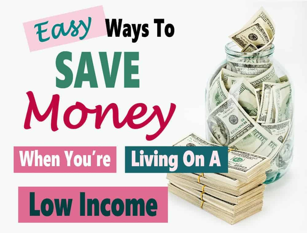 Finding ways to save money can be difficult when you are living on a low income. The good news is that it isn't impossible to save some money if you are willing to put in some work to grow your emergency savings. Click over to find out how. saving money | money saving tips | budget | save money on a low income #money #savemoneyonalowincome #savemoney #moneysavingtips
