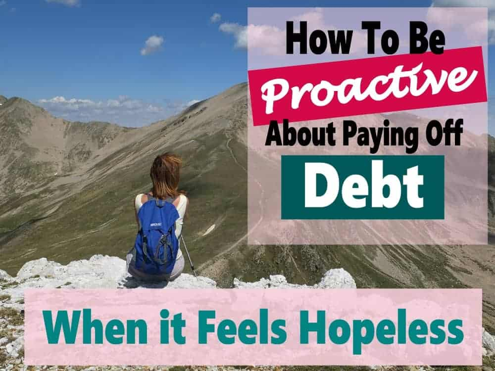 Getting out of debt is not an easy thing to do. You must be proactive and work at it paying off debt. That's the only way you will ever become debt free and live the life you deserve to live. #debt #debtpayoff #debtfree #howtogetoutofdebt