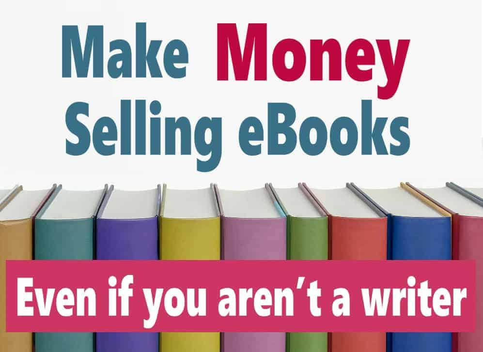 Have you ever thought of writing an eBook? You don't have to be the next great author to make money selling eBooks. If you have some knowledge of a particular topic, you can make money even if you aren't a writer, think in terms of how to guides, tutorial or cook books. These are eBooks that anybody can write and make passive income from for years to come. How great does that sound? Click on over to read more. #makemoney #passiveincome #makemoneyonline #income #money
