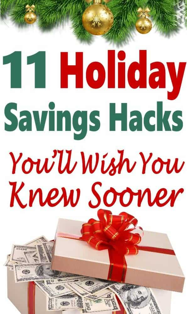 Looking to save money this Christmas? Then you have to check out these holiday savings hack!! There are many great money saving tips to stay on budget so you don't take on debt this holiday season. #Christmas #money #finance #savemoney