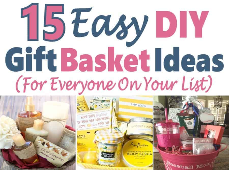 If you are looking for a great gift, then why not put together a gift basket full of fun things that everyone will love. Check out these 15 easy to make DIY Gift Basket Ideas, there is something for everyone on your list. DIY | Gift Ideas | Gift Basket | DIY Gifts #giftbasket #gift ideas