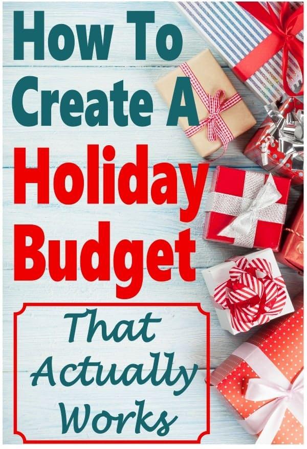 Creating a Christmas budget