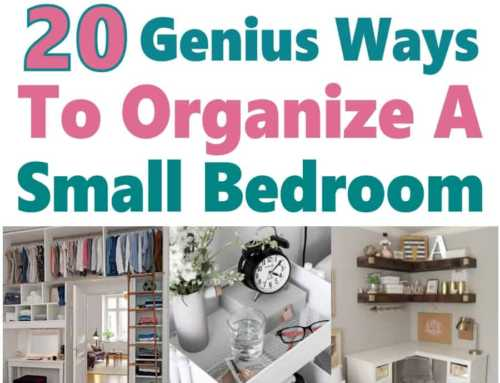 20 Genius Ways to Organize a Small Bedroom