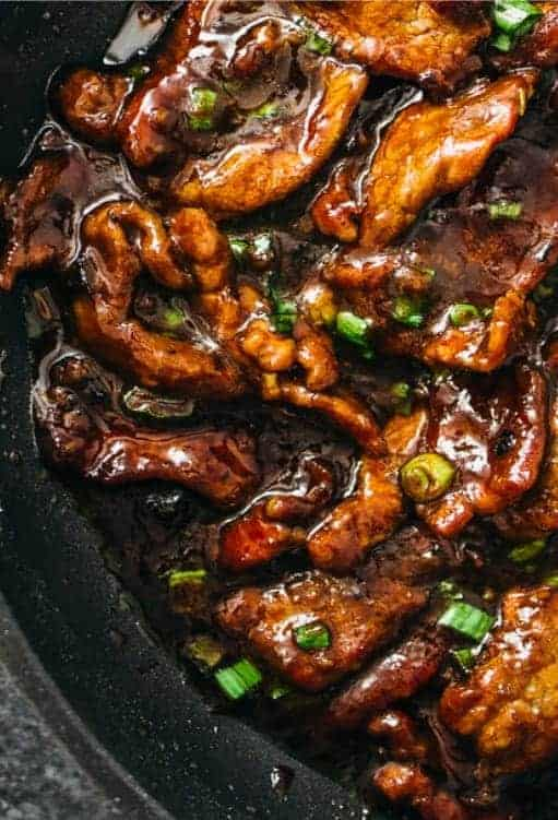 Quick Dinner Recipes ~ Nothing looks more savory than this Mongolian beef recipe and it tastes just as good as it looks. You'd think by the looks of it that it takes time to make but it really doesn't. This is one of those meals that make my family feel like they are fine dining