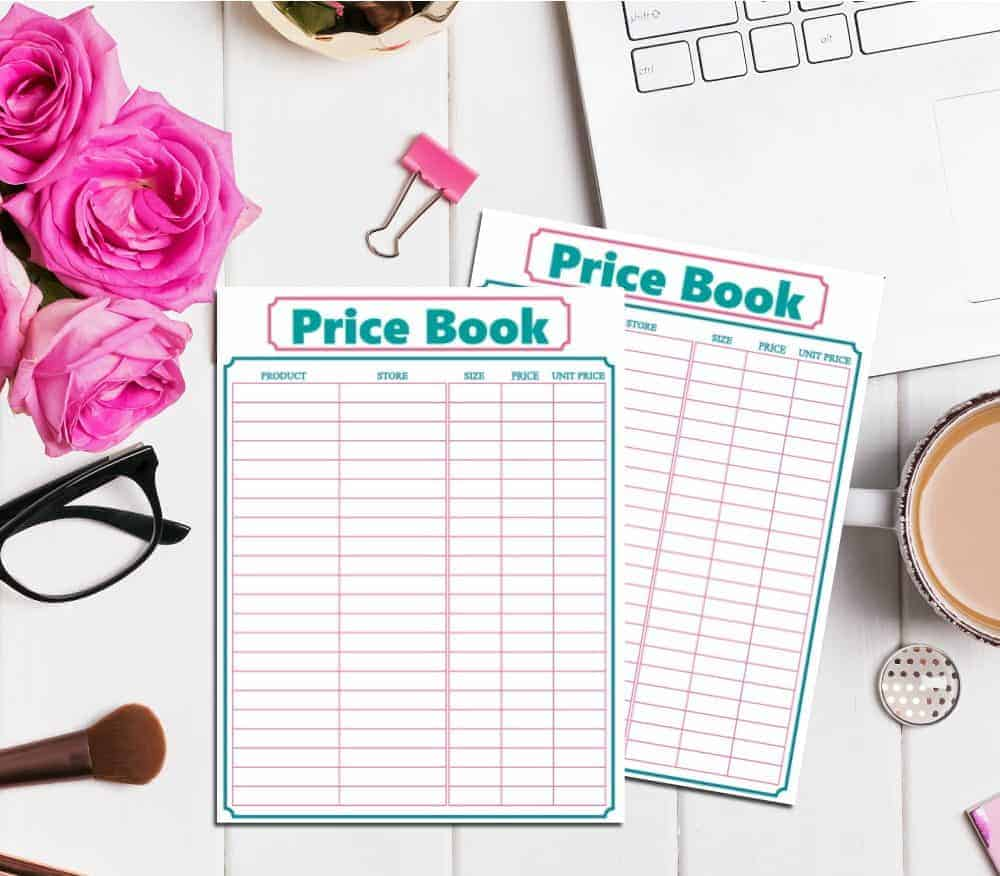 Save money on groceries by shopping sales with these price book printables.