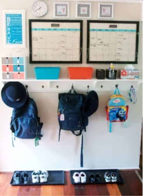 Kids School & Activity Command Center Need help keeping your kid's school work and schedules organized? This command center is the perfect way to never miss an activity so you always know what's going on. Plus your children will never lose their homework again!
