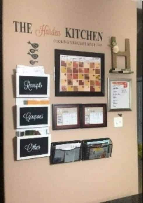 Kitchen Essentials Command Center This kitchen essentials command center is a cooks dream. Keeping your meal plan, recipes, and coupons all in one place is the best way to stay on top of your grocery budget.