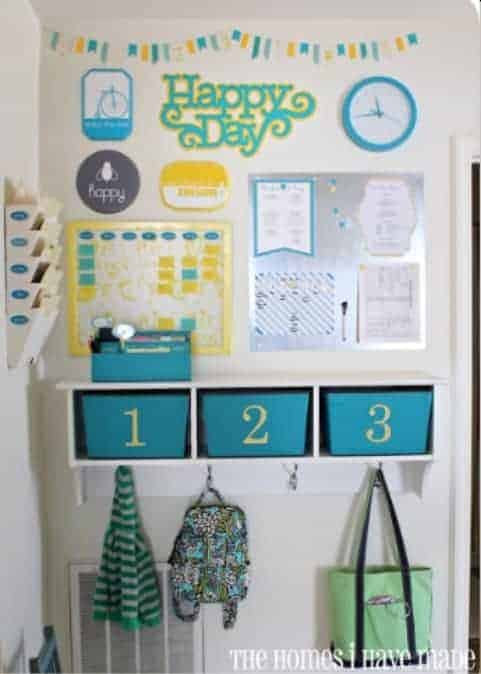 Family Fun Command Center Who says a command center has to be boring. This fun idea is the perfect idea to keep all your kid's homework and school stuff tucked away nice and neat.