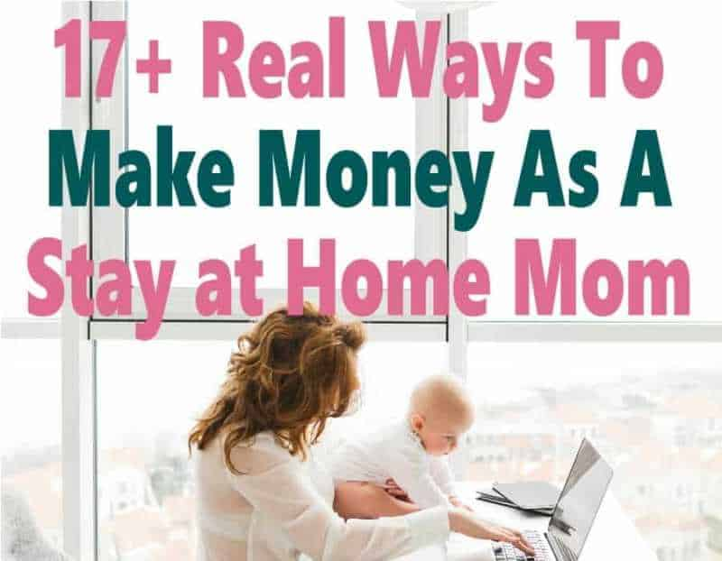 Are you a stay at home mom (or hoping to be one) looking to make money from home to help with the family finances? Here are 17+ stay at home mom jobs that anyone can do whether you want to earn extra money on a full time income!! Click over to find your perfect mom job!!
