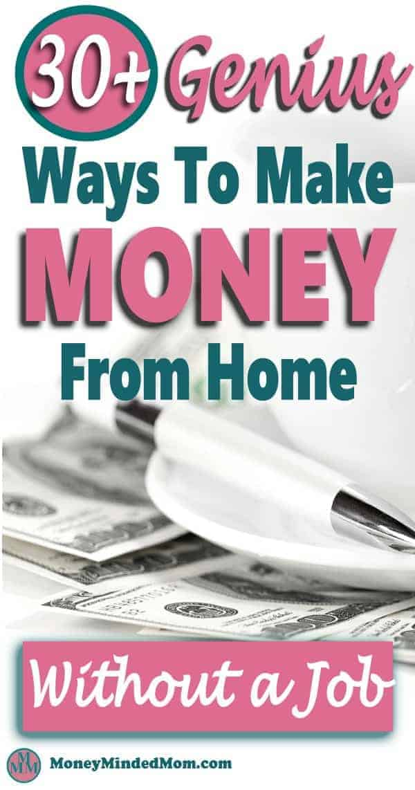 If you are looking to make money from home, then you're in luck. I found over 30 genius ways to make extra money or even a full-time income from home without a job. #makemoneyathome #makemoney #workathomejobs