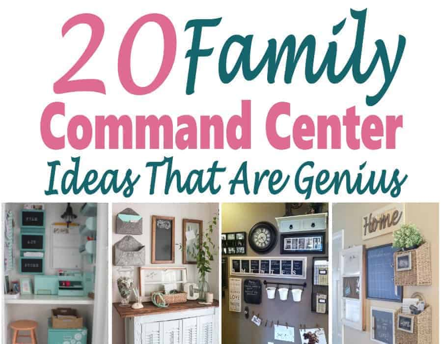 If you need help organizing your home and family, then a family command center is the perfect place to start. It keeps everyone organized and helps to declutter your home. This is one of the best organization hacks that I've found that really helps!!