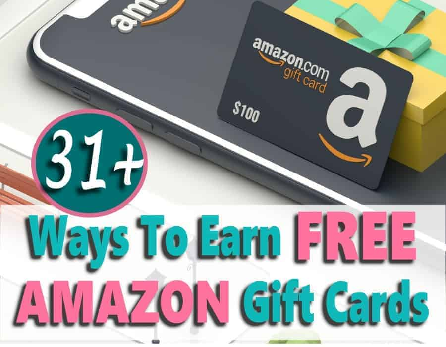 Want to know how to earn free Amazon gift cards? It's easier than you think to make free money to pay for your Amazon shopping sprees. In fact, there are over 31 easy ways to earn free gift cards. Check them out!