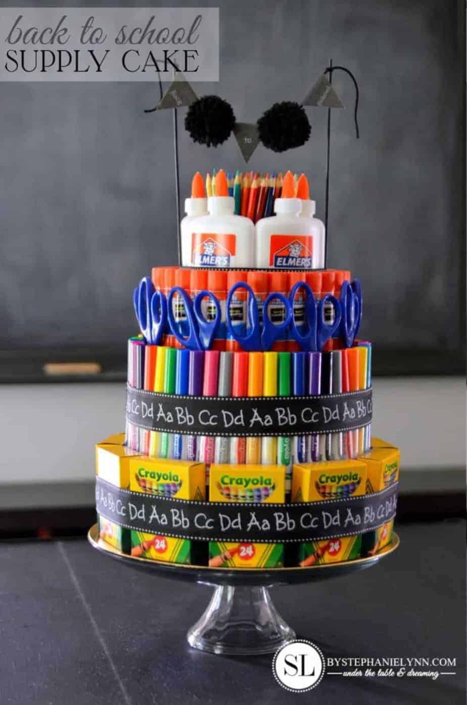 School supply teacher gift idea