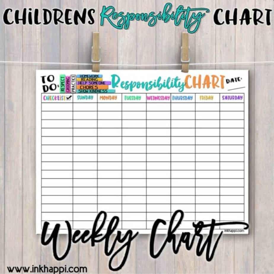Children's Responsibility Chart