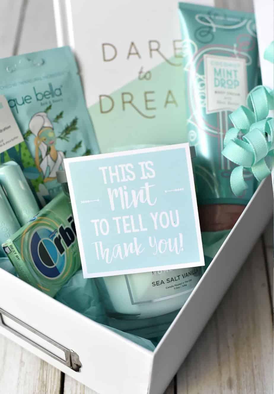 Mint themed teacher gifts