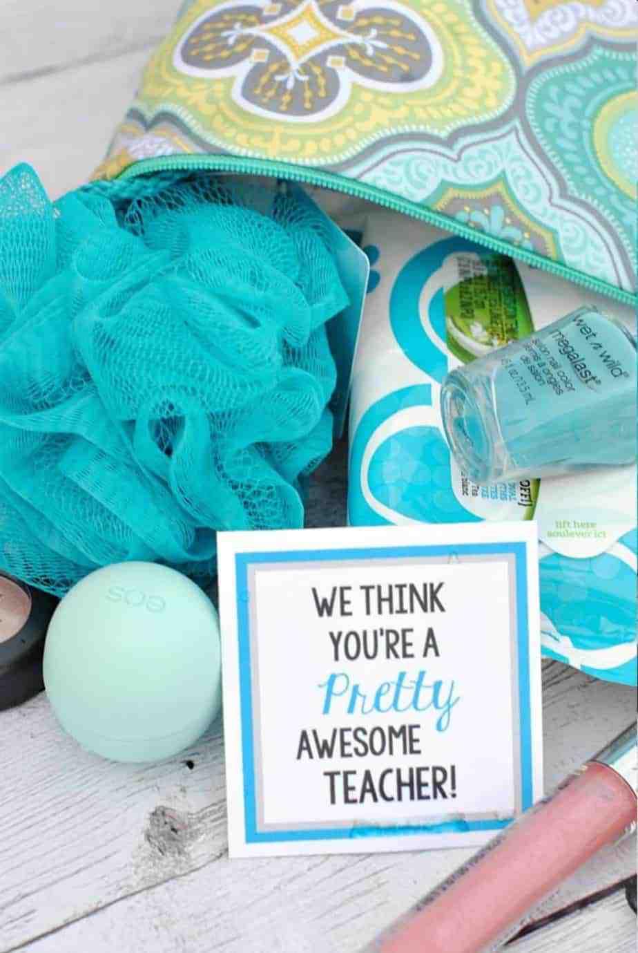 Spa teacher gift basket idea
