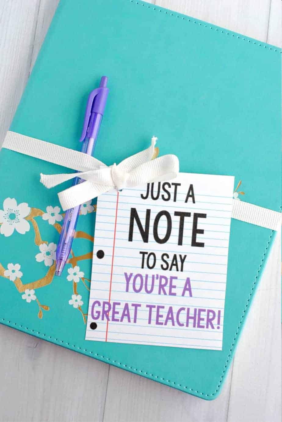 teacher note gift idea