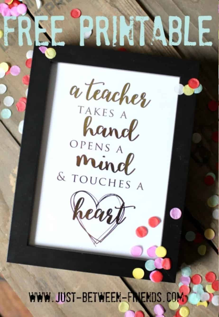 printable wall art teacher gift
