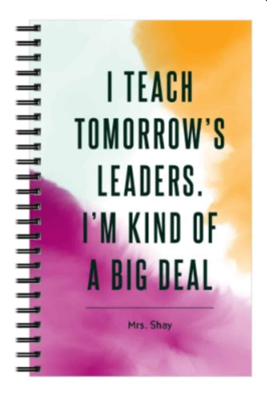 Personalized notebook teacher gift