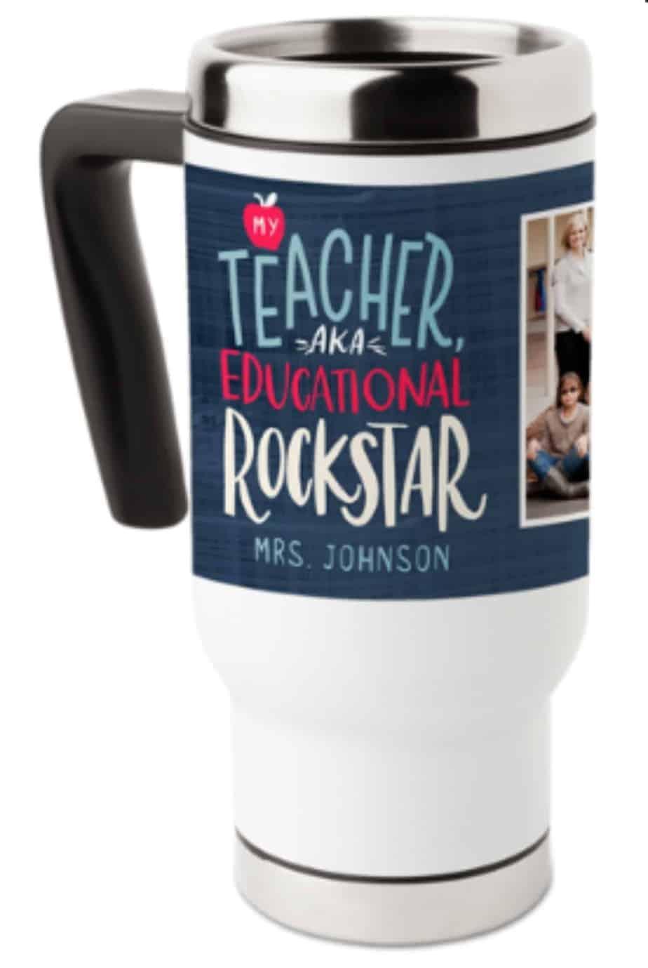 Travel mug teacher gift
