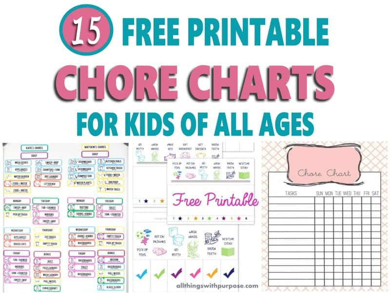 15 Chore Chart Printable For Kids Of All Ages Free Download