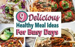 Stop wondering what's for dinner. These healthy meal prep recipe ideas are perfect for those busy days. There are vegan recipes, instant pot meals and much more. These easy recipes are also perfect make ahead freezer meals to save time cooking for your family. #mealprep #makeaheadmeals #dinnerrecipes #freezermeals