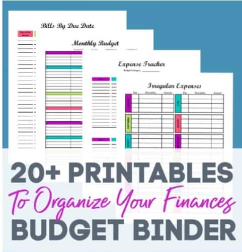 Budget Template Printables